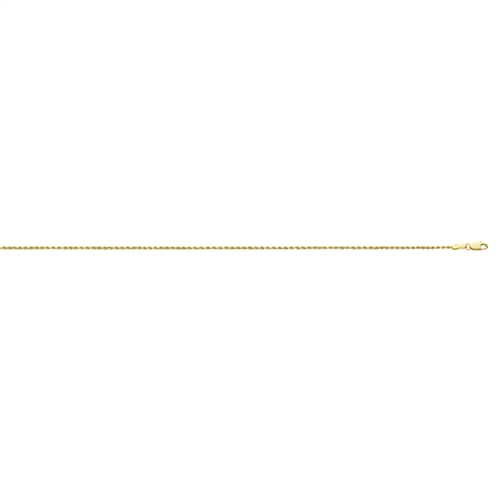 14K YG 1.0mm 009 D/C ROPE