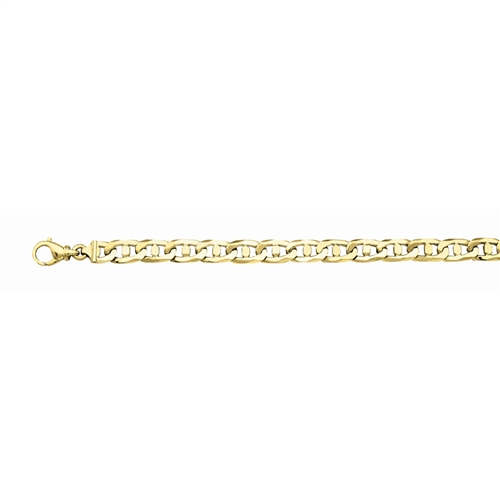 14K Handmade 9.4mm Fancy Marine Link