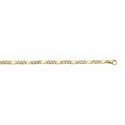 14K Handmade 5.6mm Fancy Men's Link