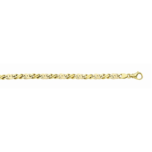 14K Handmade 7.3mm Fancy Men's Link