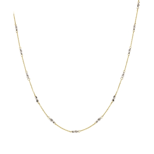 14K TT CABLE/ROPE CHAIN 16-18""