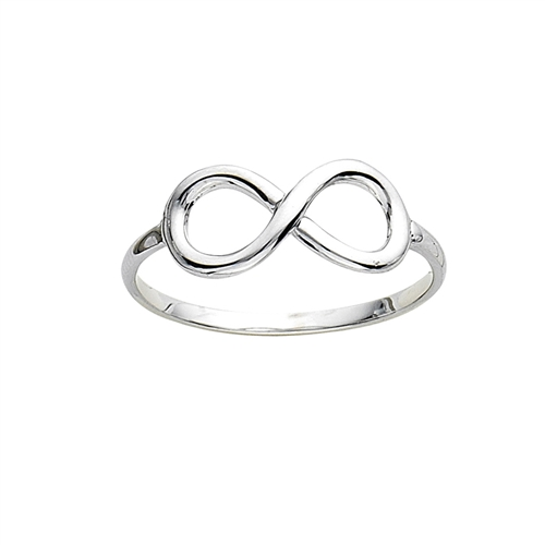 14K WG POLISHED INFINITY RING - SIZE 7