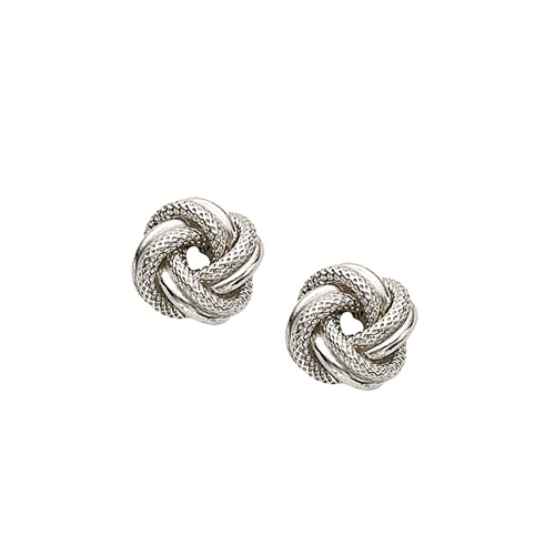 SS RHD LOVE KNOT POST EARRINGS