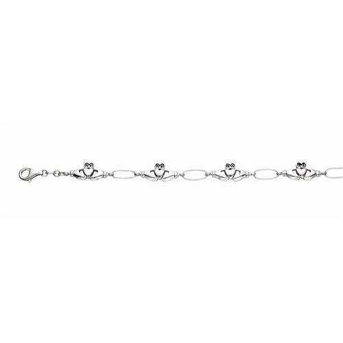 SS RHD CLADDAUGH OVAL LINKED BRACELET