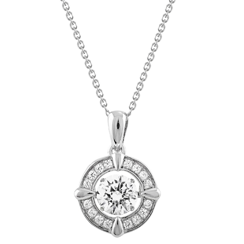 SSRHD GEMS IN MOTION SWAROVSKI ART DECO RND DESIGN PENDANT WITH CHAIN