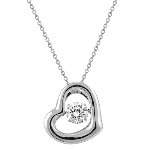SSRHD GEMS IN MOTION SWAROVSKI POL HEART PENDANT WITH CHAIN