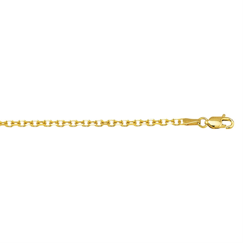 14K YG 2.18MM D/C CABLE CHAIN