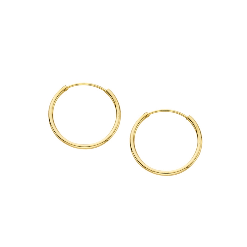 14K YG 1X14mm Endless Hoop