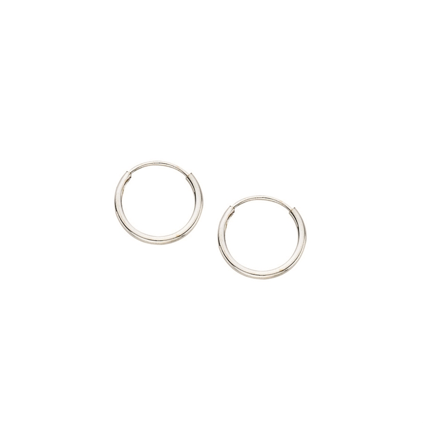 14K WG 1x10mm Endless Hoop